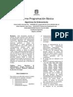 Informe Programación Básica