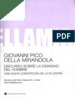 Pico Della Mirandola, Giovanni. - Discurso Sobre La Dignidad Del Hombre [2008].pdf