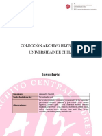 Inventario Colección Archivo Historico U de Chile 2016