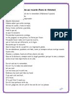 No Me Pidas Que Recuerde (Poema de Alzheimer)
