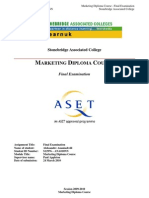 Marketing Diploma Course - Final Examination