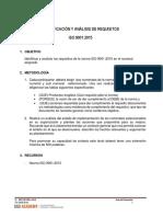 IDENTIFICACIÓN Y ANÁLISIS DE REQUISITOS  ISO 9001:2015