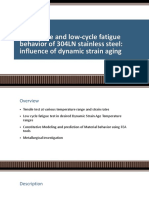 The Tensile and Low-cycle Fatigue Behavior of 304LN