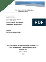 Informe Lab. de Suelos Humedad
