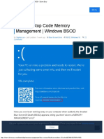 [Solved] Stop Code Memory Management Windows BSOD - Driver Easy