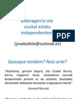 (2019) Bideragarria ote euskal estatu independentea