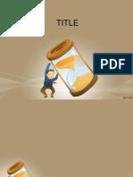 Time Management FOrmat Slides