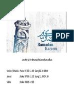 Jam Kerja Puskesmas Selama Ramadhan