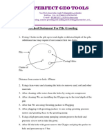 Method statement for pile grouting