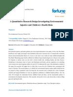 A Quantitative Research Design Investigating Environmental Injustice and Childrens Health Risks