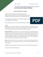 Assesment of Serum Zinc Status of Children