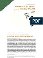 Informe Tebeosfera. La industria de la historieta en España en 2018