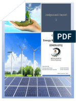 Assignment Report-2 on Renewable Energy (Course Energy Environment ENEN 671)_Rev2