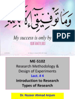 LECT 4 Types of Research