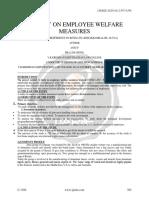 A Study on Employee Welfare Measures With Special Refference to Kitex Ltd Kizhakkambalam Aluva 1384
