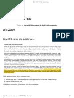 Iex – Drhp Notes _ Value Seeker