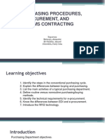 Chapter 7 Purchasing Procedures, E-procurement, And Systems Contracting