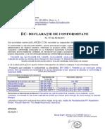 Declaratie CE Ferestre