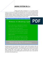 Banking System Project Abstract