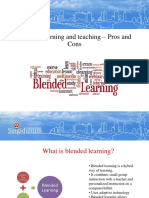Blended Learning and Teaching Pros and Cons