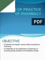 4 Fields of Practice of Pharmacy