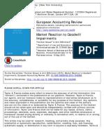 European Accounting Review Volume issue 2015 [doi 10.1080_09638180.2015.1042888] Knauer, Thorsten; Wöhrmann, Arnt -- Market Reaction to Goodwill Impairments.pdf