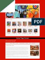 Online Art Gallery Mini Java Project Screens