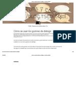 Cómo Se Usan Los Guiones de Diálogo – Escritura y Edición