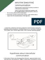 Lumencrine (Exocrine) Communication