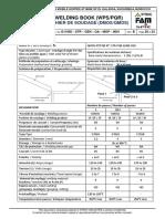 Cahier de soudage G 11950 - Ver B_WPS 14