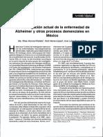 Diabetes Mellitus Como Factor de Riesgo de Demencia en La Población Adulta Mayor Mexicana