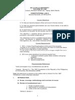 Consti 2 Syllabus - DLSU (Revised)