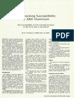 CRACKING SUSCEPTIBILITY IN ALUMINIUM