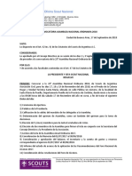 001 - Convocatoria a Asamblea Nacional Ordinaria