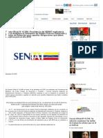 Gaceta Oficial N° 41.546_ Providencia del SENIAT mediante la cual se establece el Calendario de Sujetos Pasivos Especiales y Agentes de Retención para aquellas obligaciones que deben cumplirse para el año 2019 _ Finanzas Digital