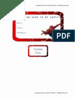 Spiderman Invitation & Thank You Card (1)
