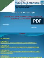 CONTROLUL ȘI MONITORIZAREA CALITĂȚII APELOR LA U.P. COROEȘTI