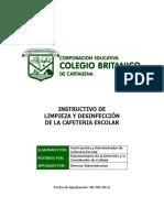 INSTRUCTIVO DE LIMPIEZA Y DESINFECCIÓN DE LA CAFETERIA ESCOLAR.pdf
