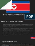 north korea - criminal justice english project