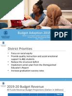 Rochester City School District 2019-20 Budget Adoption