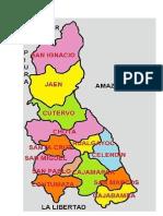 Mapa de Cajamarca