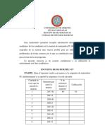 Cuestionario de Matemática IV