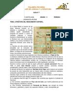 GUÍA N°7 LITERATURA DEL RENACIMIENTO ESPAÑOL GRADO 10