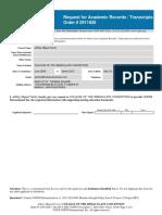 CRP SCHOOL REQ RPT Academic Records Transcripts Form a REV G v11