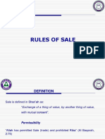 5- Rules of sale
