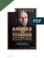 Tim Ferris - Armas de Titanes -JR