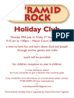 holiday club flyer and registration form
