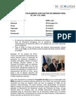 Chile factor de emisión para el SIC y el SING
