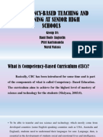 Competency-based Teaching and Learning at Senior High Schools