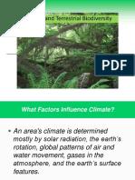 Climate & Terrestrial Biodiversity